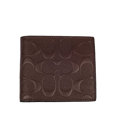 Amazon Com Coach Mens Wallets Brown Mah Clothing