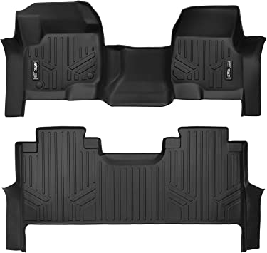 2017 MAXFLOORMAT Floor Mats for Ford F-250 // F-350 SuperCrew and SuperCab Only First Row Black