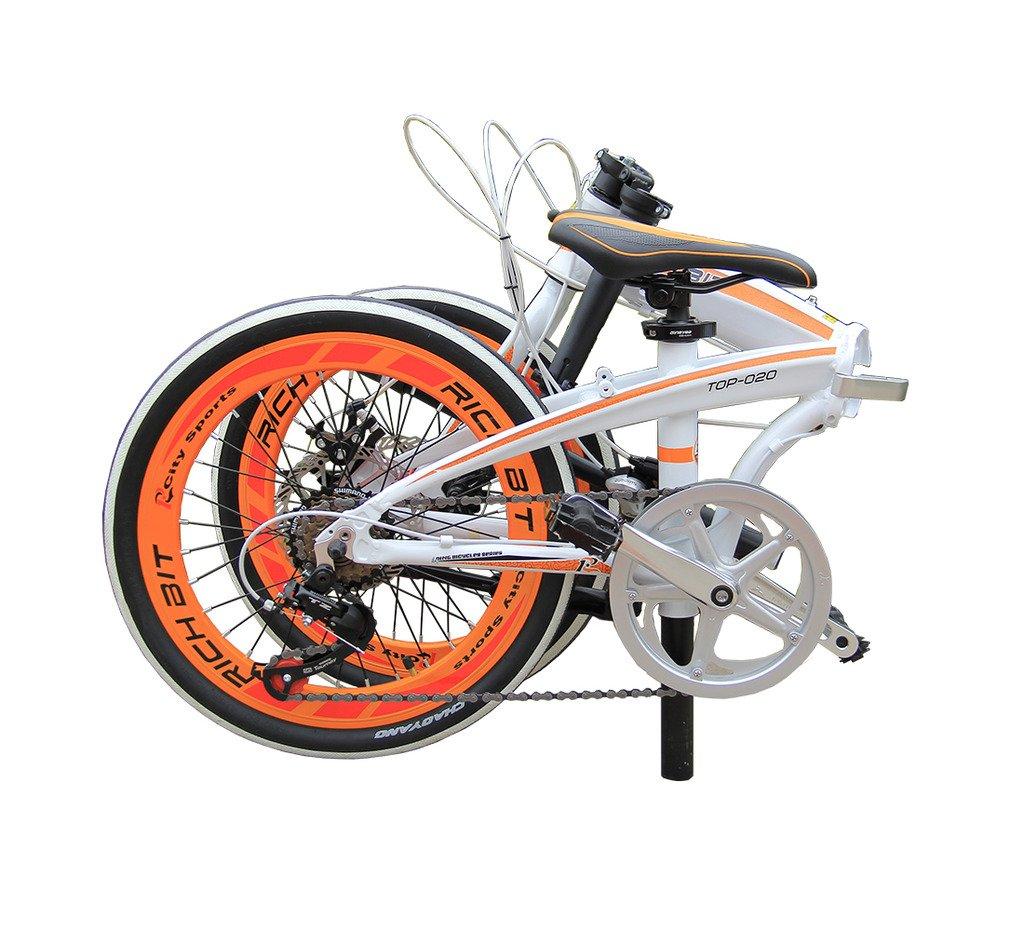 Bicicletas Plegables BMX free style De carretera Híbridas Bicicletas Comfort Bike Peso ligero estupendo 20 Plugadas Mini Bici 7 velocidades Marco Plegable ...