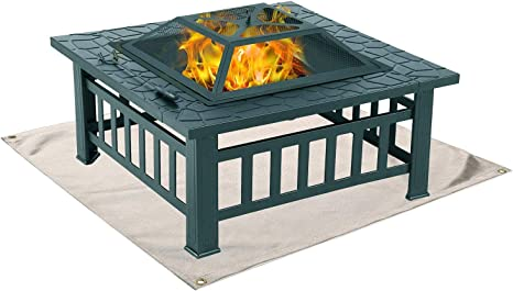 Amazon Com Fire Pit Mat Grill Mat For Ground Patio Deck Lawn Outdoor Or Campsite Protection Ember Mat Pad Kitchen Dining