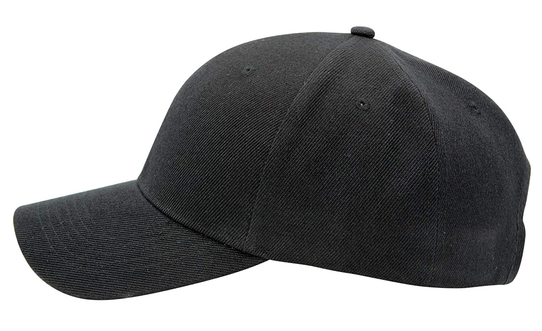 e30a3006ff4a0 Men s Plain Baseball Cap Adjustable Curved Visor Hat