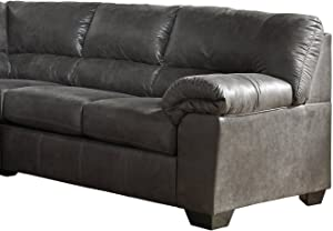 Signature Design by Ashley - Bladen Contemporary Right Arm Facing Loveseat - Sectional Component Only, Slate