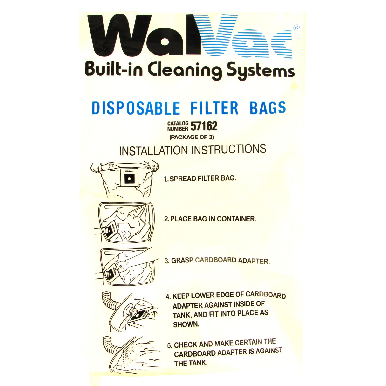 WalVac Vacuum Cleaner Replacement Bags (3 Pack) by WalVac (51762)