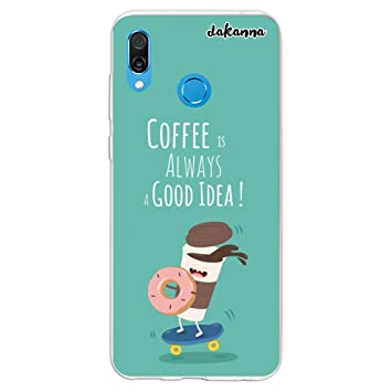 dakanna Funda para Huawei Honor Play | Comida Café y Donut ...