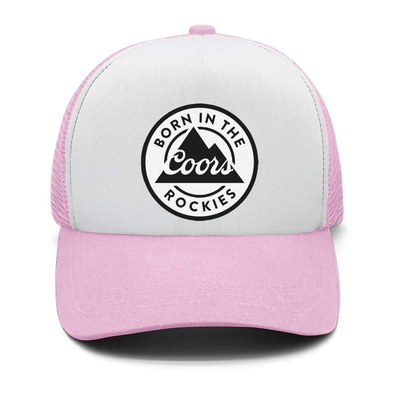 Mens Vintage Trucker Hat Busch-Beer-Sign Adjustable Sun Cap