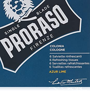 Amazon.com: Proraso Refreshing Cologne 6 Piece Tissue Set, Azur Lime, 0.1 lb.: Luxury Beauty