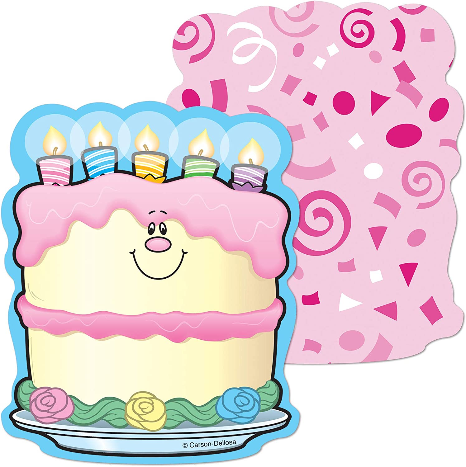 Awe Inspiring Birthday Cakes Mini Cut Outs Carson Dellosa Publishing Company Funny Birthday Cards Online Inifofree Goldxyz