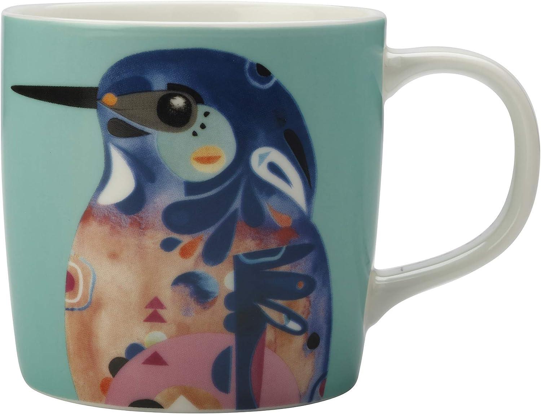 Taza de caf/é Maxwell Williams DI0215 dise/ño de Pete Cromer con texto en ingl/ésAzure Kingfish