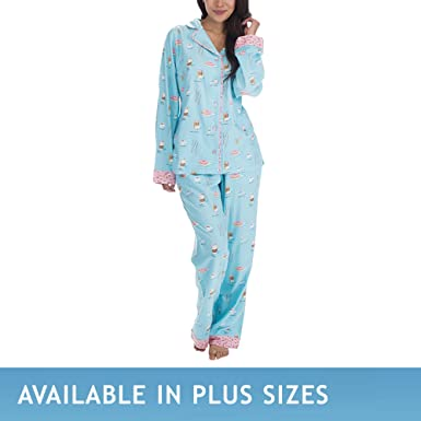 munki munki Women s Flannel Long Sleeve Classic Pj Set at Amazon ... 09f0529d1