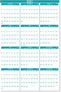 Amazon.: 2021 Yearly Wall Calendar   2021 Wall Calendar with