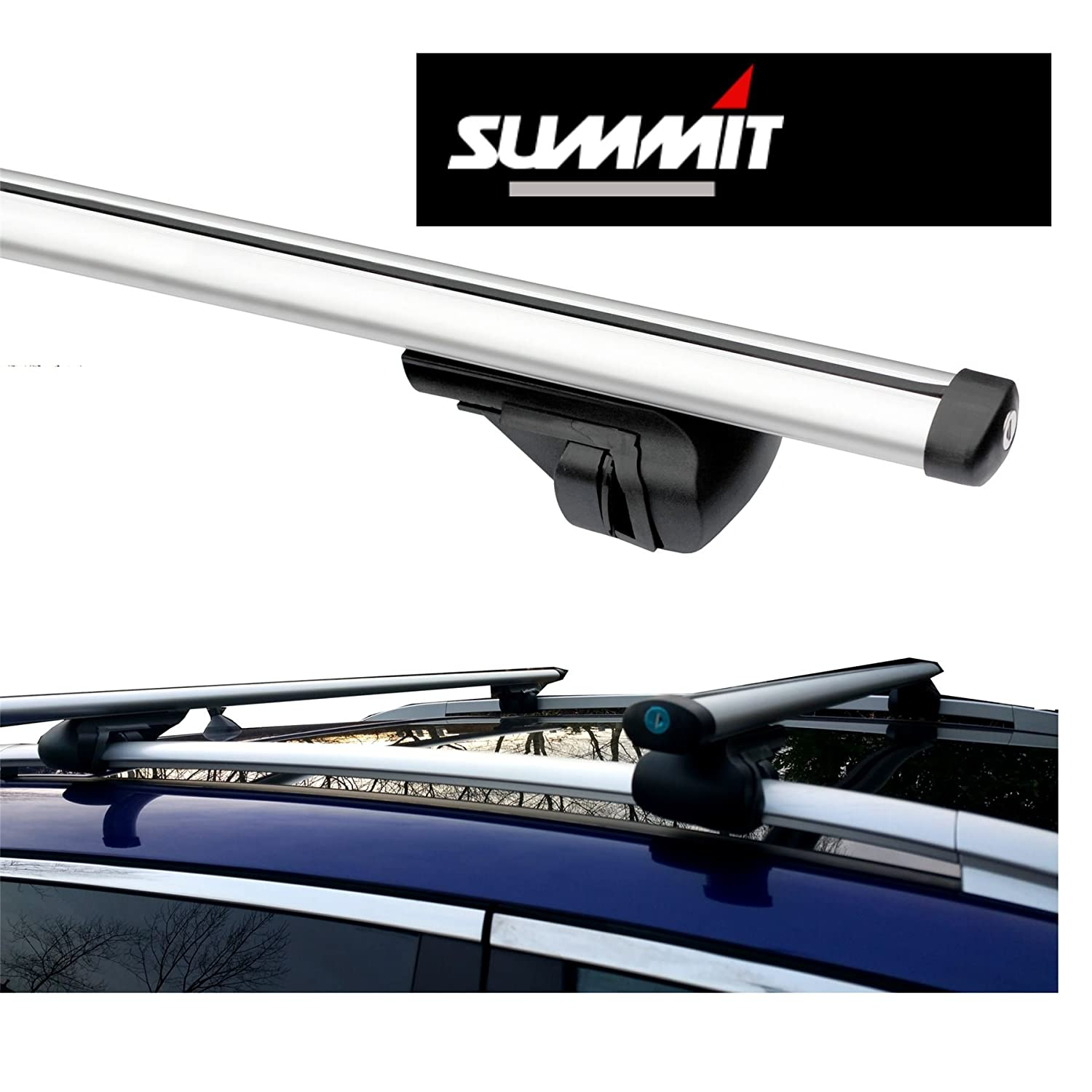 Volvo XC90 2002-2013 Estate ROOF AERO BARS RACK ALUMINIUM LOCKING CROSS RAILS Summit
