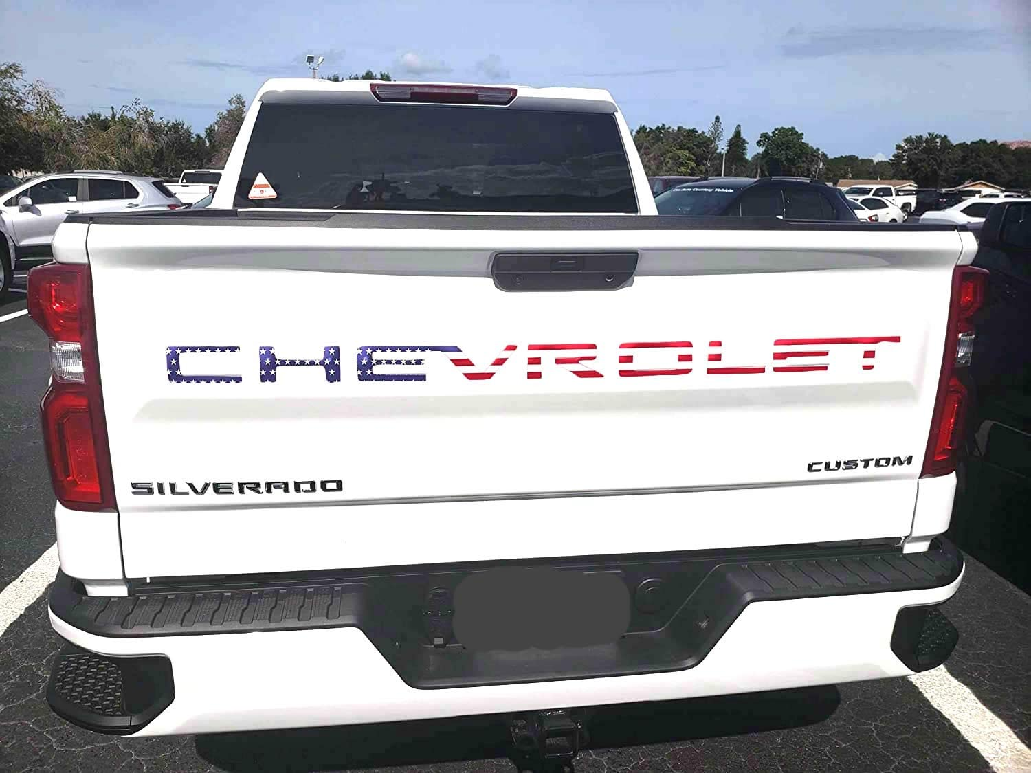 3D Raised /& Strong Adhesive Decals Letters Mr Udinese Tailgate Inserts Letters Compatible with Chevy Silverado American Flag Tailgate Emblems Inserts Letters