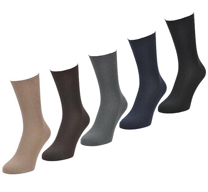 Horizontal Hombre Calcetines 6 pares Big Foot, talla 11 – 14, colores claros