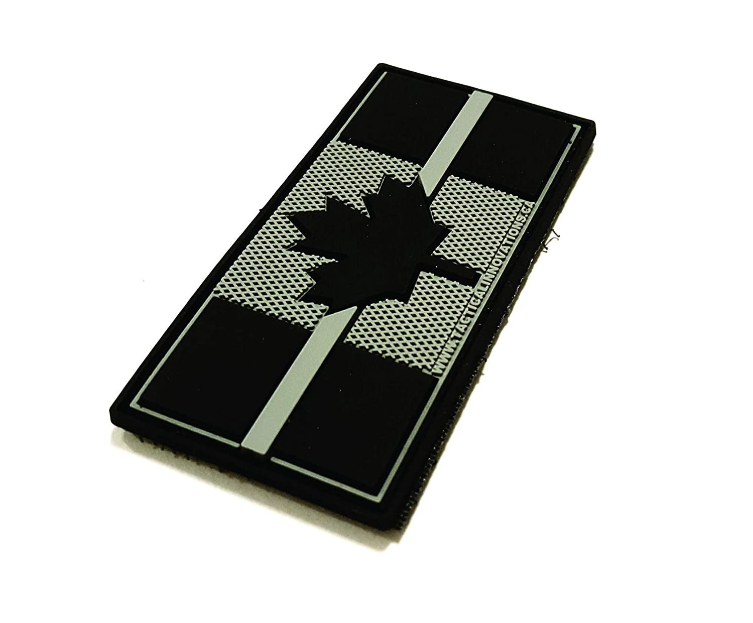 Canadian Flag Thin Grey Line 1.5x3 Supporting Correctional Services PVC Morale Patch