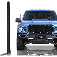 "CK FORMULA Bending Truck Antenna, 7"" Black Automotive Antenna Replacement, AM/FM Radio Compatibility, Internal Copper…"