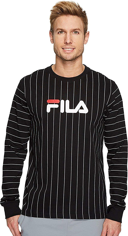 ab0b3700dde2 Fila Men's Mario Long Sleeve T-Shirt - Black - XXXXL: Amazon.co.uk: Clothing