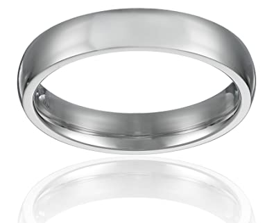 4mm stainless steel wedding band ring high polished classy domed ring 5 to 11 - Stainless Steel Wedding Ring