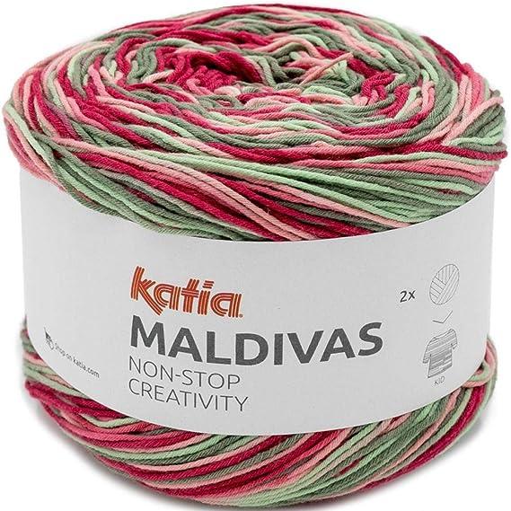 Lanas Katia Maldivas Ovillo de Color Fresa Cod. 83: Amazon.es: Hogar