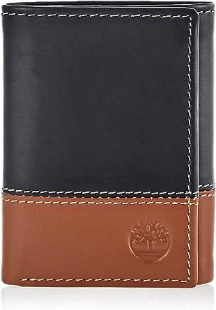 محفظة جلدية قابلة للطي على ثلاث طبقات للرجال، بجيب للبطاقة الشخصية من تيمبرلاند
