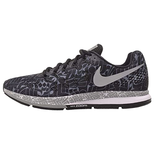 Nike Men's Air Zoom Pegasus 33 Rostarr, Black/Reflect Silver-Dark Grey,