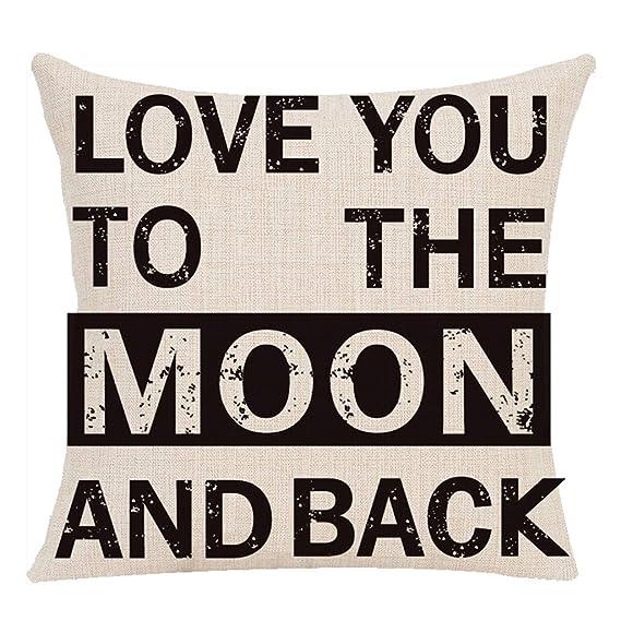 Amazon.com: Happy Valentines Day Throw Pillow Case Sweet ...