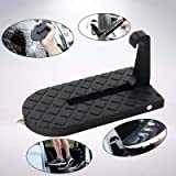 Car Doorstep Roof-rack Folding Foot Peg Ladder with Safety Hammer Function for Car Jeep SUV