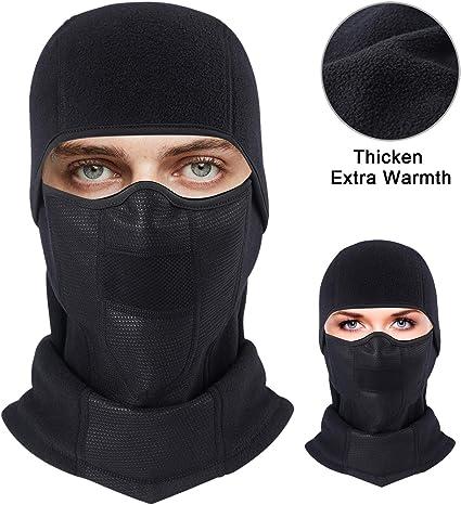 Balaclava Water Resistant Windproof Winter Fleece Warm Motorcycle Ski Face Mask