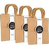Brown Kraft Bag, Birthday Party Gift Favor Bag Set - 36 Count - Medium