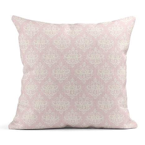 Kinhevao Cojín Damasco Nupcial en Color Rosa Pastel para ...