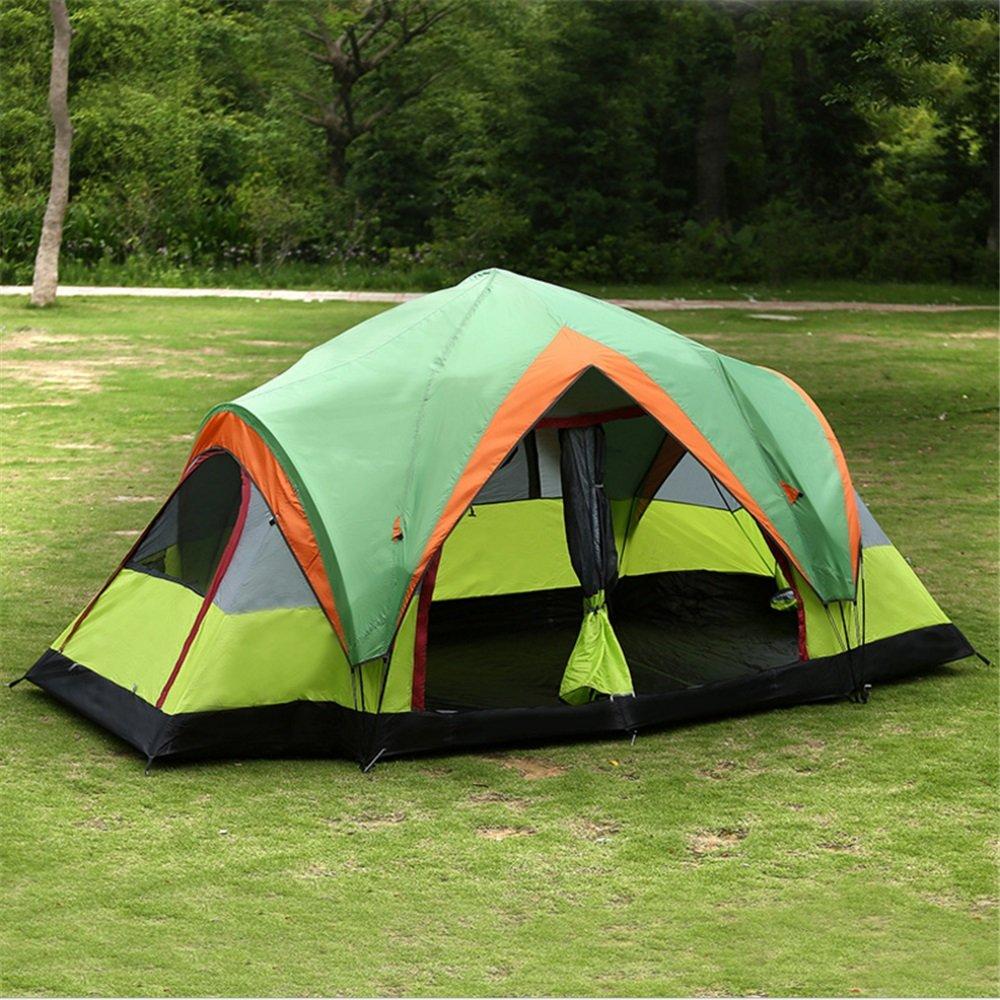 耐久性のある アウトドアキャンプテント、2つの波のロッドフリースピードオープンテントを設定する5-8フルオートダブルテント   B07JDBCQ3W