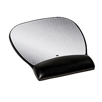 3M Leatherette - Alfombrilla de ratón, negro y plateado