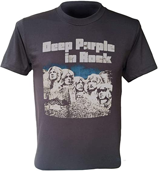 Deep Purple T-Shirt In Rock Album 1970 Band Retro Men Dark Grey Shirt S-3Xl