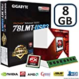Computer Technology Home, Office or Gaming Upgrade Bundle Kit - Gigabyte USB3 Motherboard & Processing via an AMD FX-4300 Quad Core CPU - Free WiFi Dongle Included (8GB DDR3 Memory)