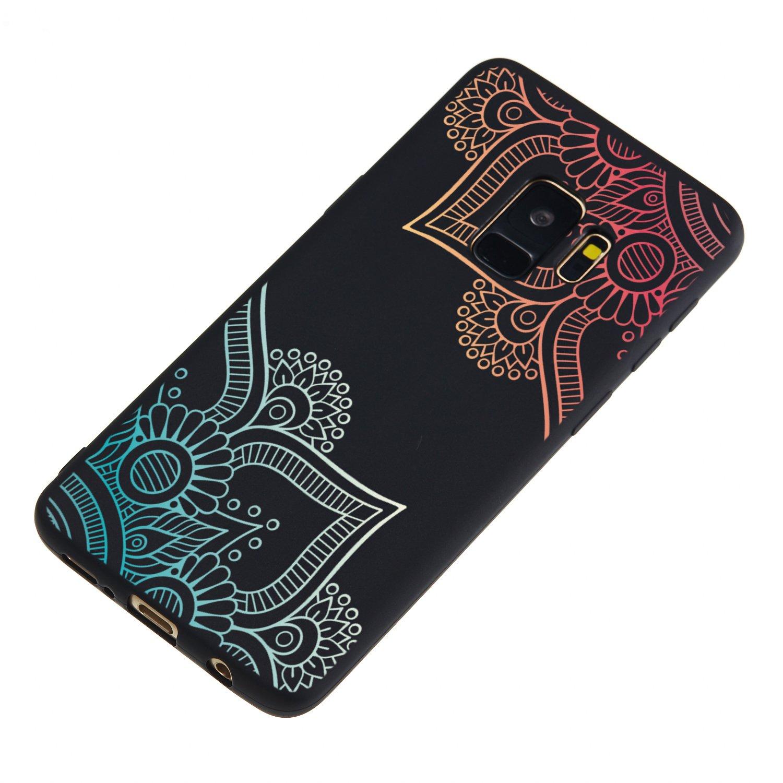 Color/é Dessin Anim/é Noir L/éger Fine Couverture Arri/ère en TPU Silicone Antichoc Souple /Étui pour Samsung Galaxy S9 Misteem Couleur Coque pour Samsung Galaxy S9 Camouflage