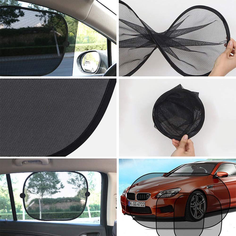 Car Sunscreen Insulation Sun Visor Car Window Side Window Sunshade Car Interior Mesh Shade Set
