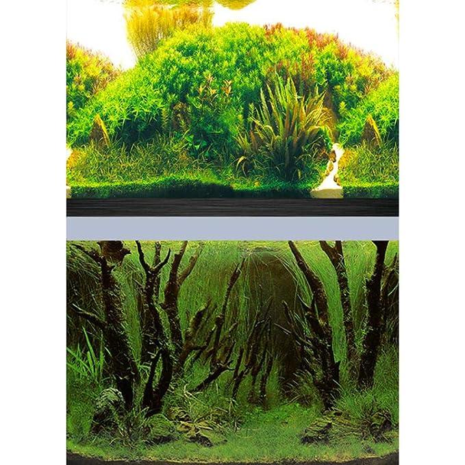 3D Fondo del Acuario De Doble Cara Decoración del Acuario HD Pez Tanque Pegatina Cilindro Papel Tapiz De Fondo Pintura,[Alto50*Largo102cm]: Amazon.es: Hogar