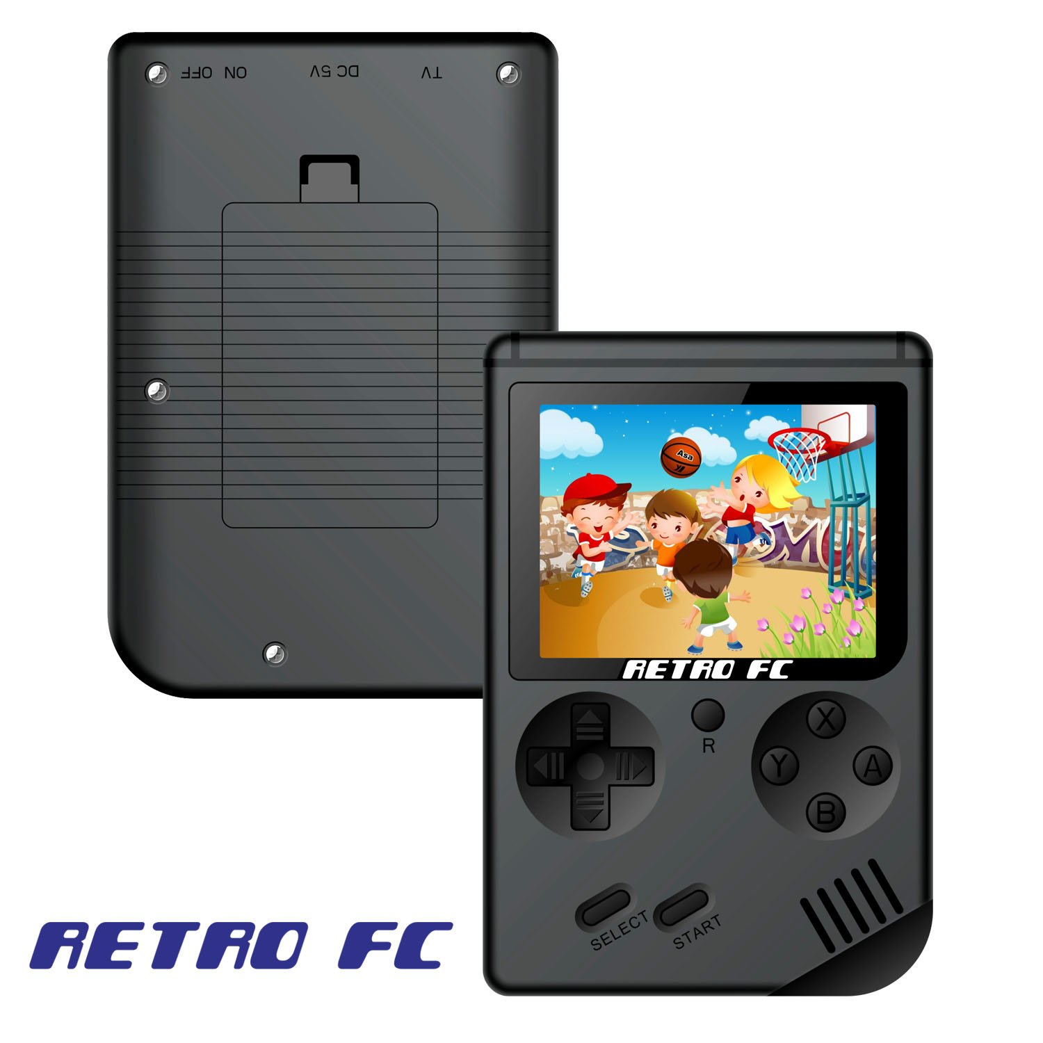 Handheld Game Console , Retro FC Game Console 3 Inch Screen 168 Classic Games TV Output Game Player , Birthday Present for Children - Black by MJKJ (Image #2)