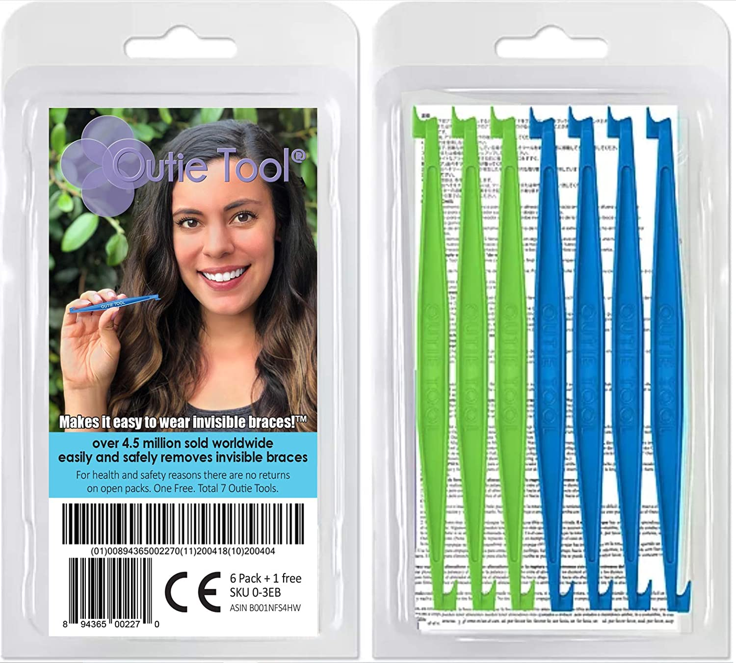 Outie Tool | Clear Aligner Invisible Braces Removal Tool | Patented Design | 1 Pack Contains 7 Tools : Oral Hygiene Products : Beauty