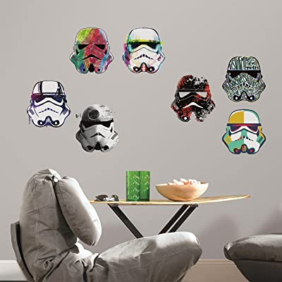 RoomMates Star Wars Artistic Storm Trooper Heads Peel And Stick Wall Decals: Home Improvement
