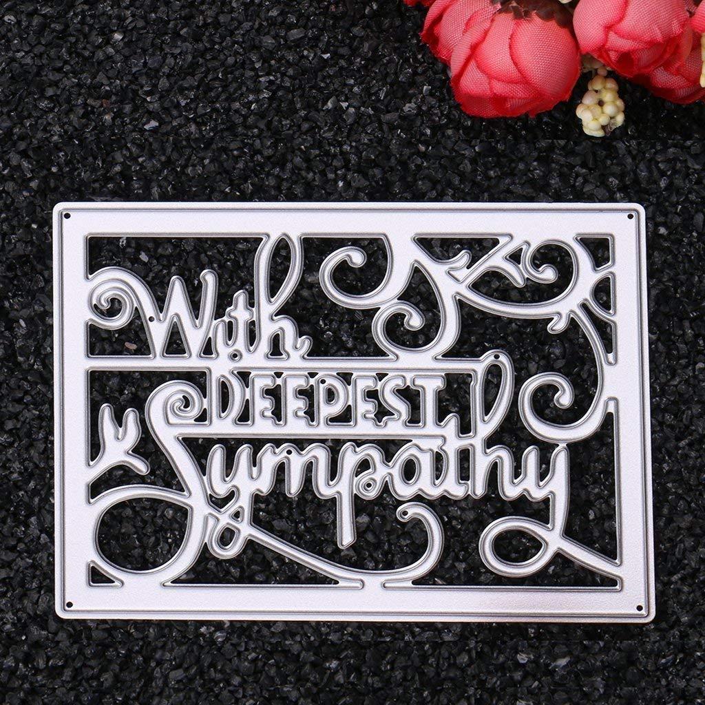 Fliyeong Premium Quality Words Cutting Dies Stencils Scrapbook Album Embossing Card Craft Decor Or Cupcake