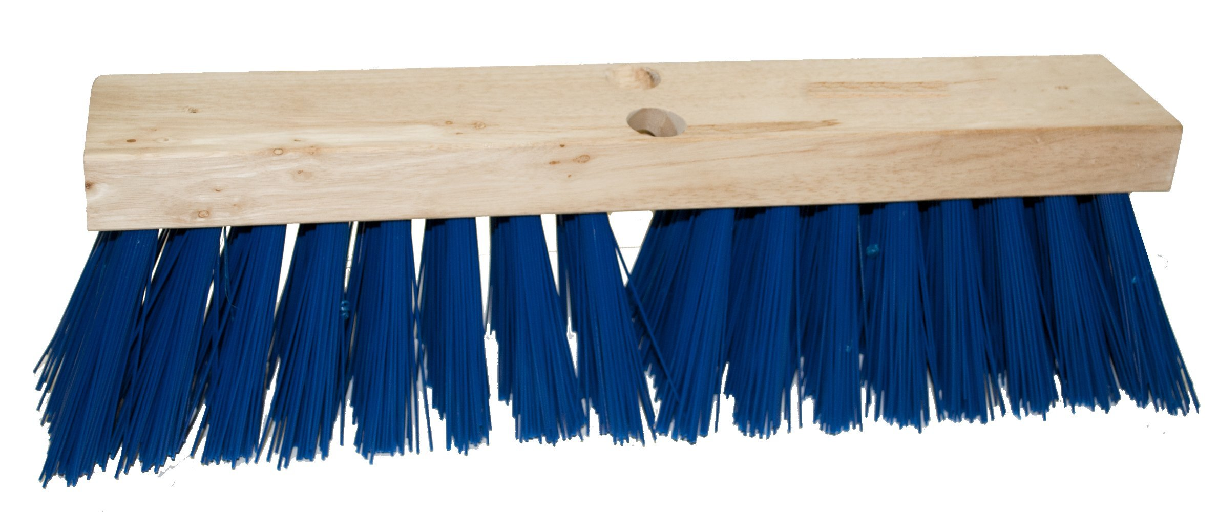 Magnolia Brush 1324-B Heavy-Gauge Street Broom, Polypropylene Bristles, 4-1/4'' Trim, 24'' Length, Blue (Case of 6)