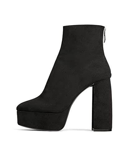 a6f441d0b0362 Zara Women's Platform Ankle Boots 3102/001: Amazon.co.uk: Shoes & Bags