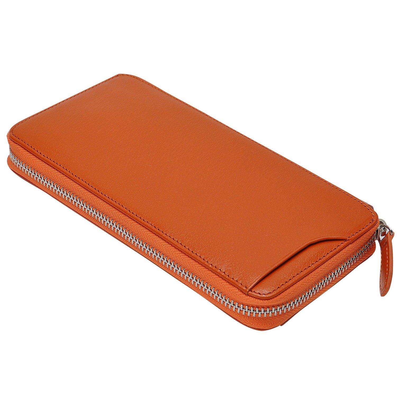 ( ミラグロ ) Milagro CBレザー ラウンドファスナー ギャルソンウォレット ( 財布 レディース 長財布 メンズ ラウンドファスナー 革 )BT-WL18 B01DSVLS0S オレンジ オレンジ