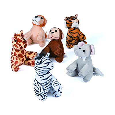 Assortment Suede Jungle Animal (1 Dozen) Zoo Party, Favors,, Gifts: Arts, Crafts & Sewing