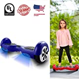 """WeSkate Hoverboard UL 2272 Certified 6.5"""" Electric Smart Self Balancing Scooter Board-Max 220lbs, 350W dual motors, Battery Power-off Protection, 6.5 MPH Speed"""
