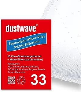Pack de ahorro – 10 bolsas para aspiradoras Dirt Devil – 6111 ...