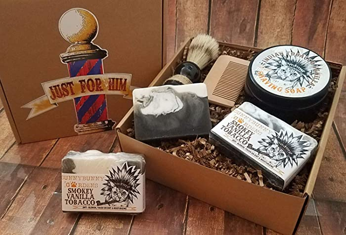 Amazon Tobacco Vanilla Soap Gift Box Masculine Soaps Mens Shave Kit Gifts For Men Birthday Best Friend Groomsman Handmade