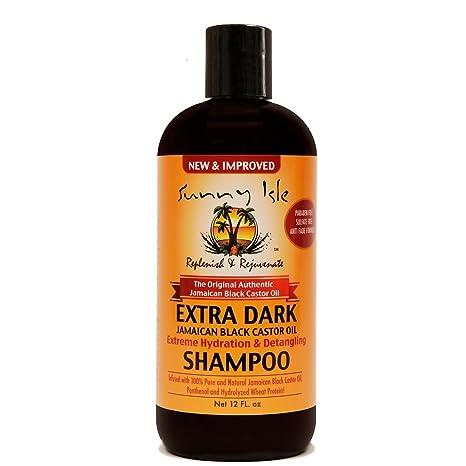 SUNNY Man Extra oscuro Jamaica negro Castor Oil Champú, 12 oz