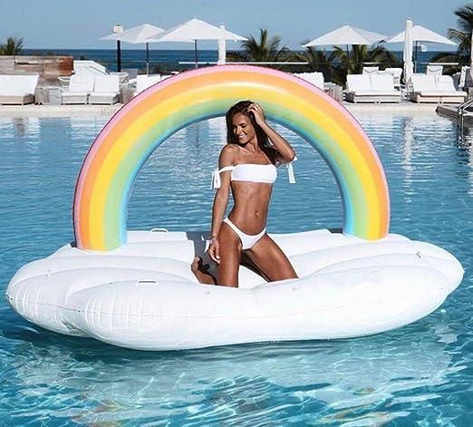 Casa jardín arco iris nube hinchable flotador juguetes gigante ...