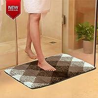HOKIPO Rubber Backing Anti Slip Microfiber Bath Mats for Bathroom, 60x40 cm